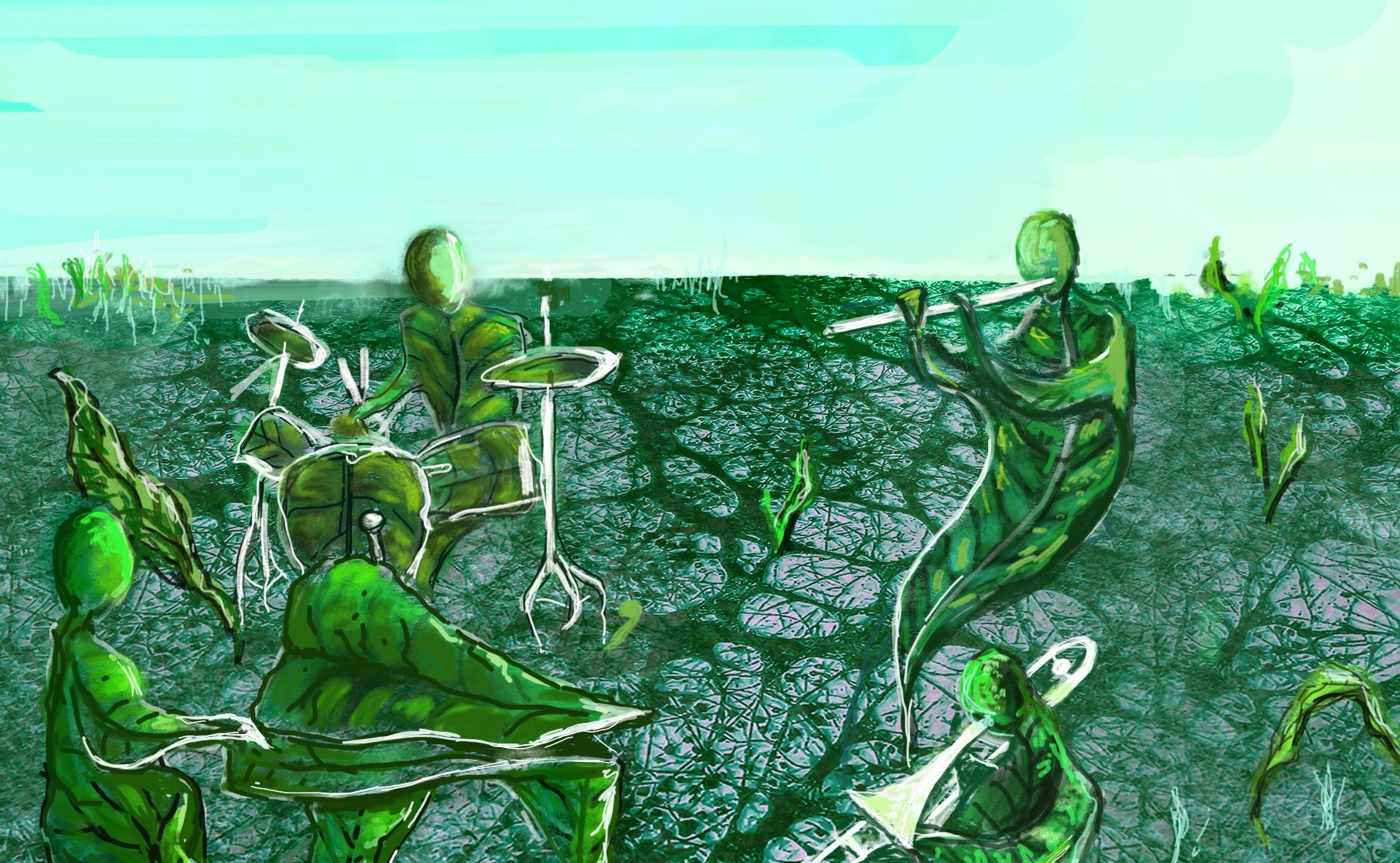 14.04./20:25h Mycelium – Organic Composition – Benjamin Schaefer